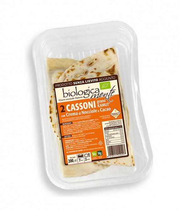 Cassoni al kamut crema di cacao e nocciole gr. 200 2pz.