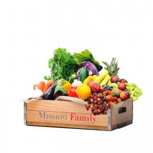 Cassetta frutta e verdura mista per 4 persone/famiglia